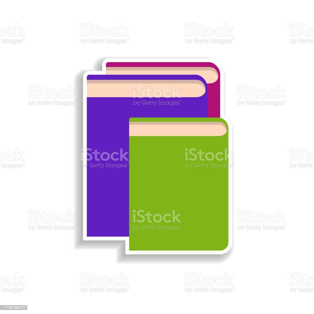 Icone De Livres Autocollant Plat Elements De Livre Dans Les