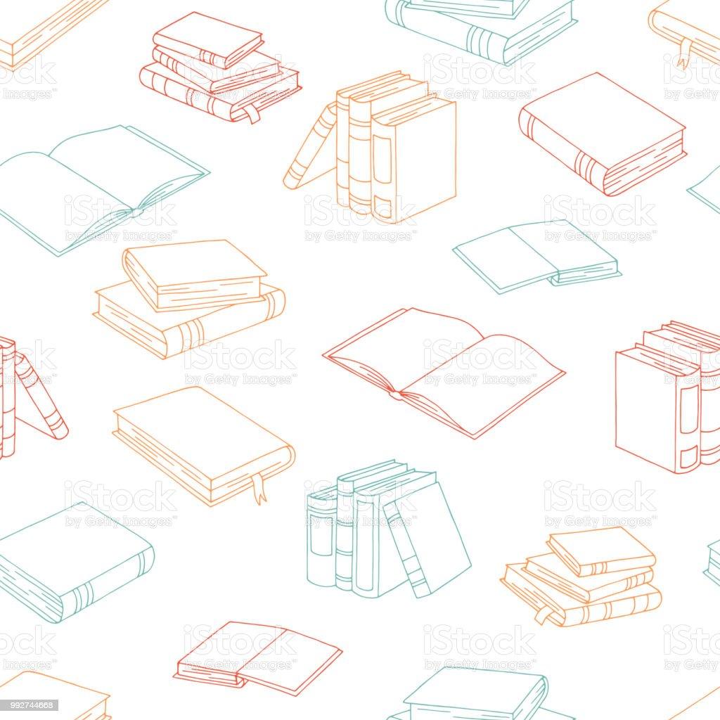Ilustración De Vector De Ilustración De Libros Color Gráfico De