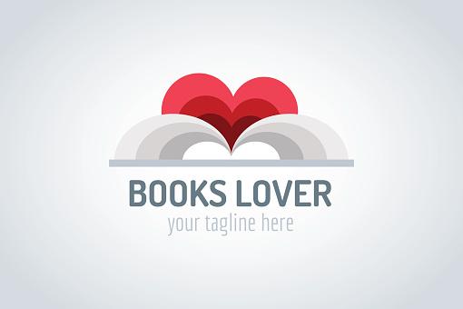 Books heart vector icon