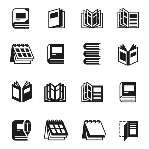 stockillustraties, clipart, cartoons en iconen met boeken pictogramserie - magazine