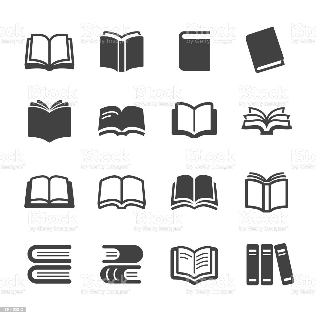 Bücher Ikonen - Acme-Serie – Vektorgrafik