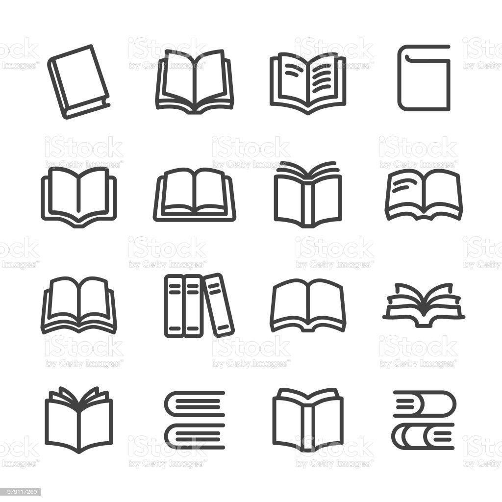 Books Icons - Line Series - Royalty-free Aberto arte vetorial