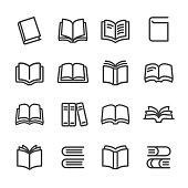 Books Icons - Line Series