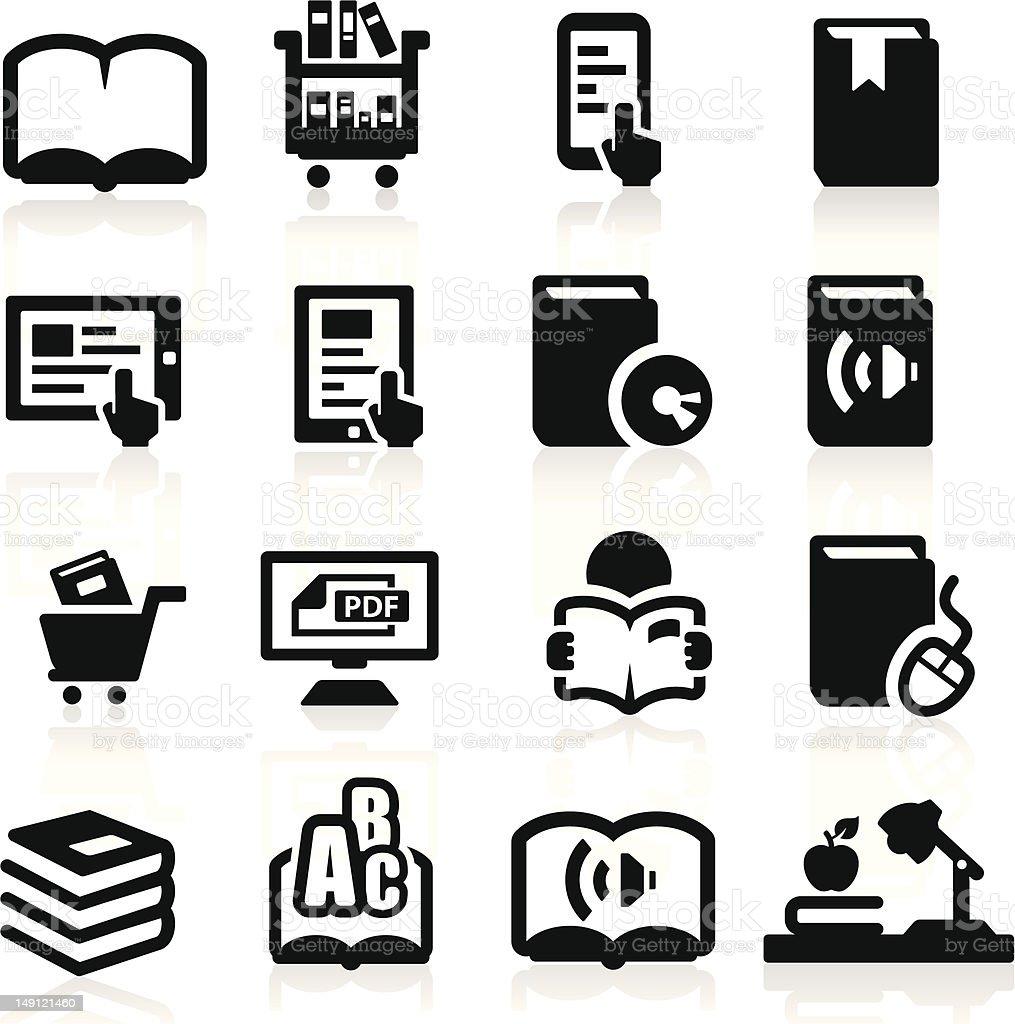 Books icons set Elegant series royalty-free stock vector art