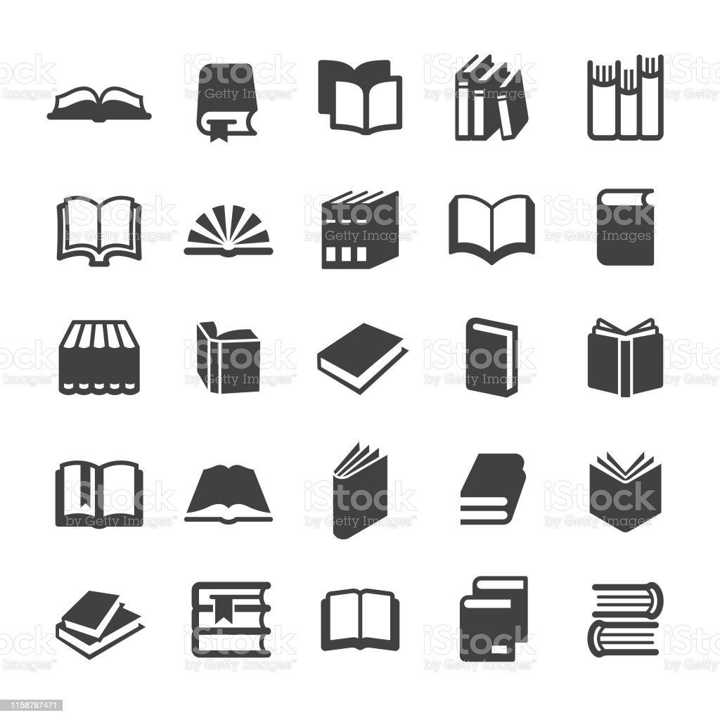 Ícones dos livros-série esperta - Vetor de Aberto royalty-free