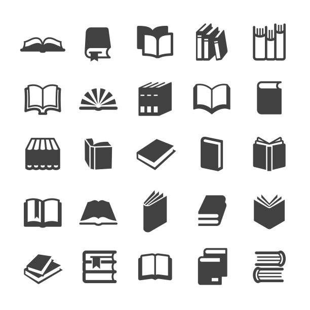 stockillustraties, clipart, cartoons en iconen met boeken iconen-smart series - boek