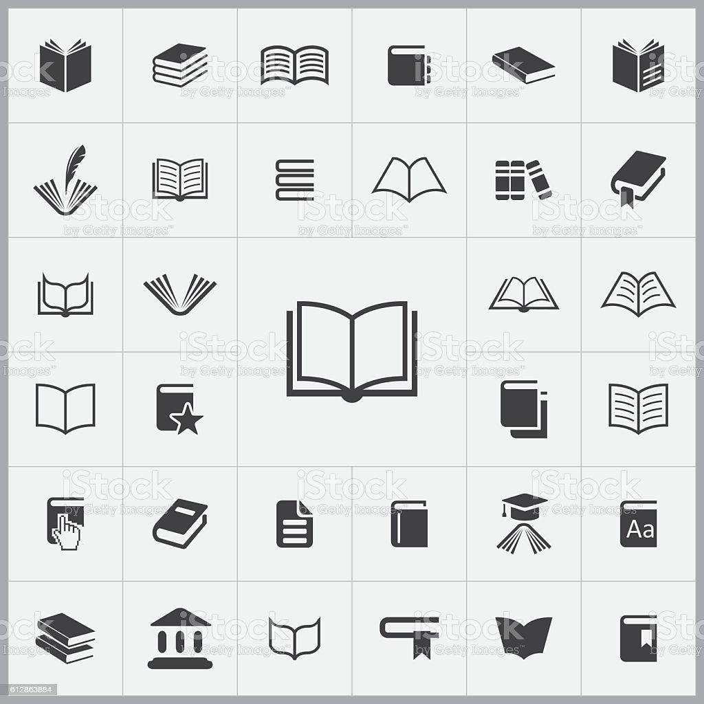 books icons universal set books icons universal set vecteurs libres de droits et plus d'images vectorielles de affaires finance et industrie libre de droits