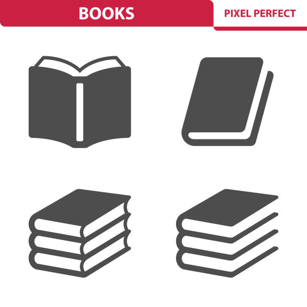 illustrazioni stock, clip art, cartoni animati e icone di tendenza di books icons - book