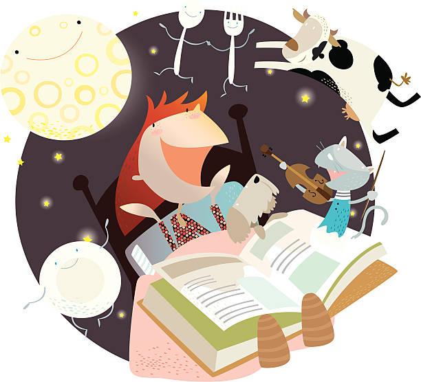 OUT OF books - nursery rhymes! vektorkonstillustration