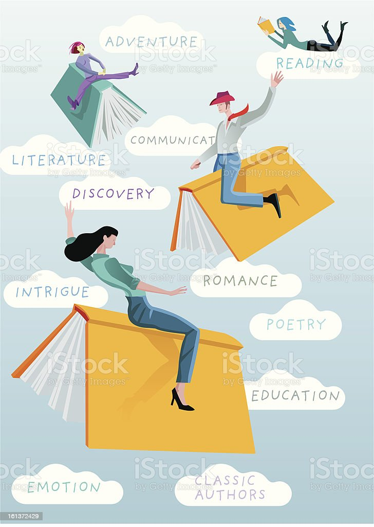 Books Rodeo Text royalty-free stock vector art