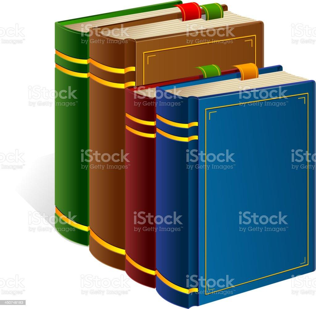 Books stack icon. vector art illustration
