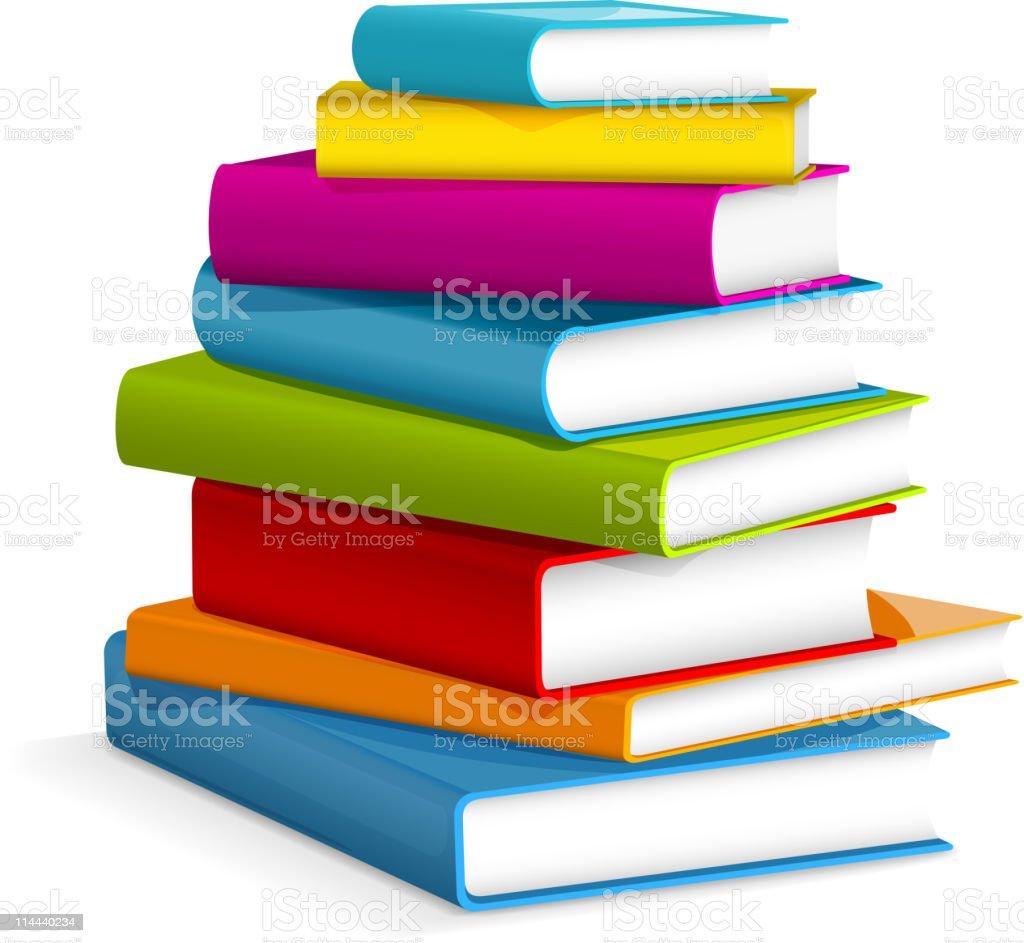 Books stack vector art illustration