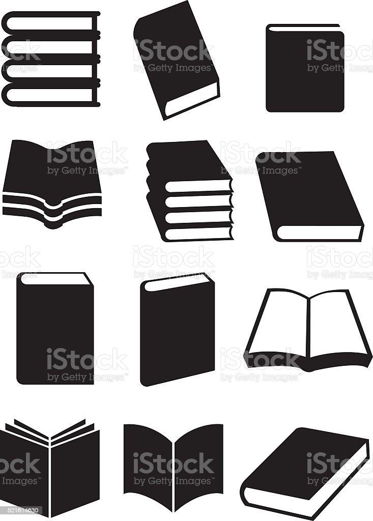 Books Vector Icon Set vector art illustration
