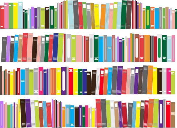 Books - vector illustration Books - vector illustration book borders stock illustrations