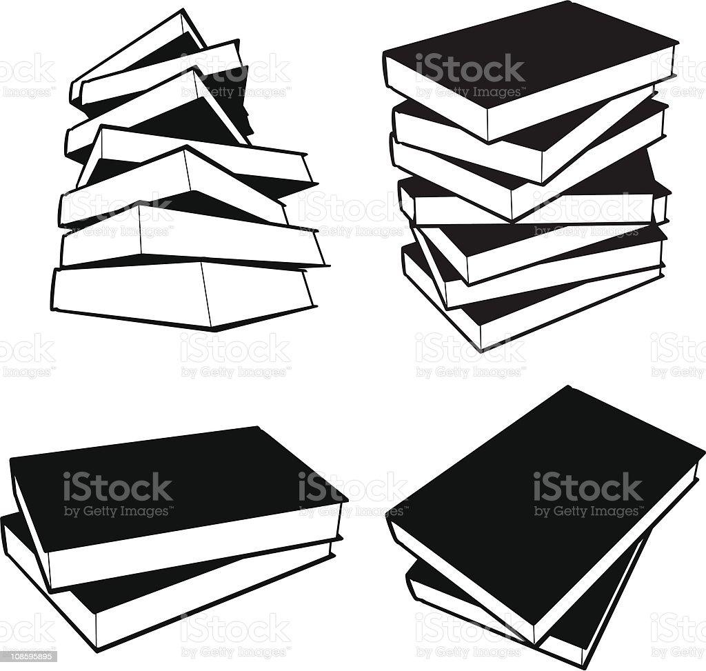 Books - vector vector art illustration