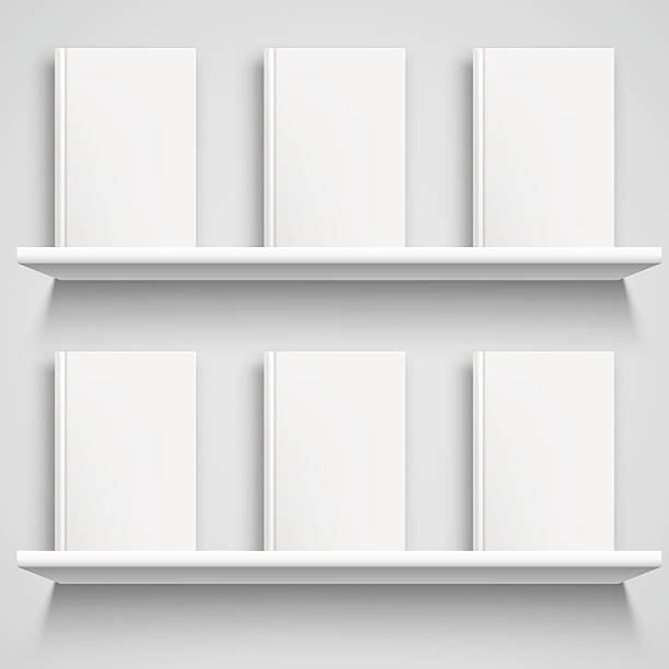 Bookshelf and Books with Blank Covers - Illustration vectorielle