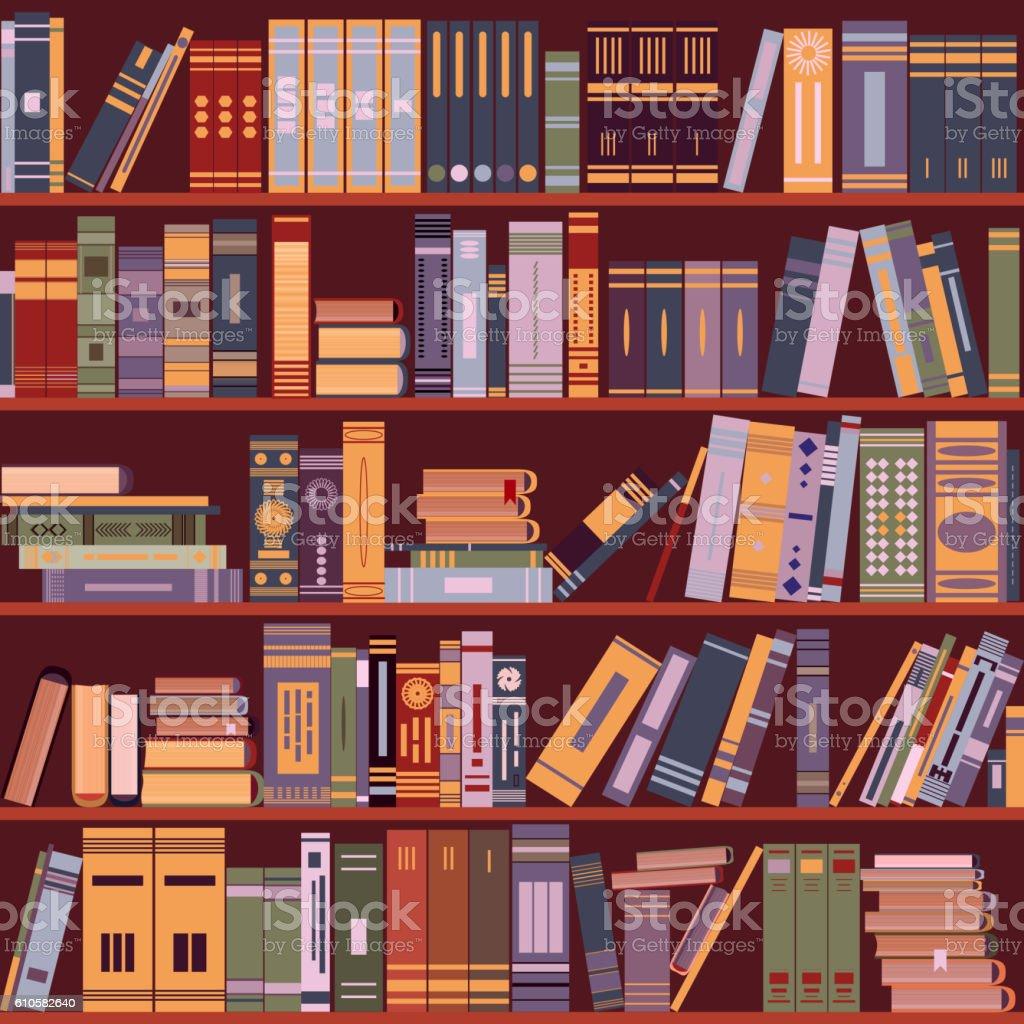 Rayonnage De Livre Livres Bibliotheque Illustration Vecteurs