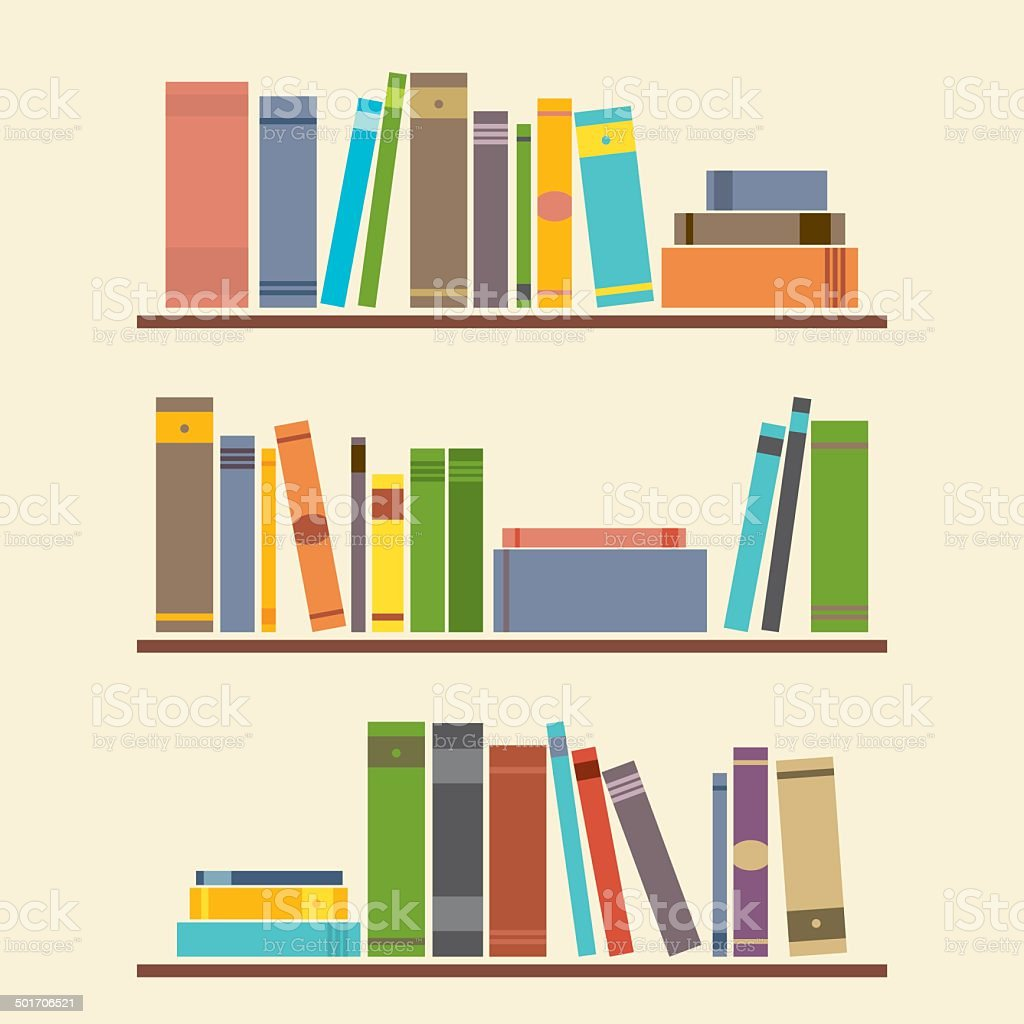 Bookshelf Graphic vector art illustration
