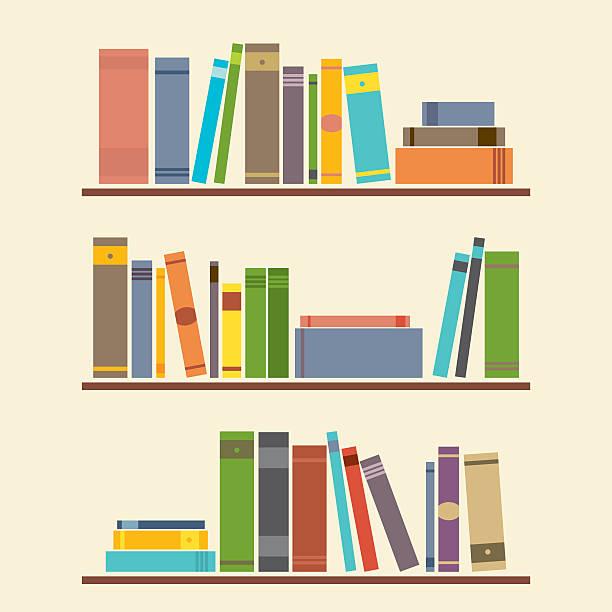 Bookshelf Graphic vector art illustration
