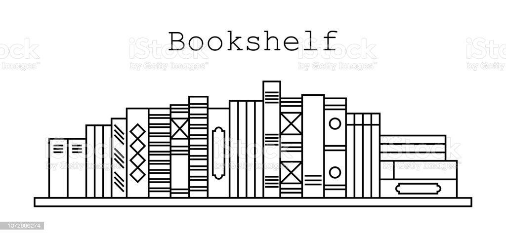 Ilustración De Icono De La Biblioteca Ilustración De Vector