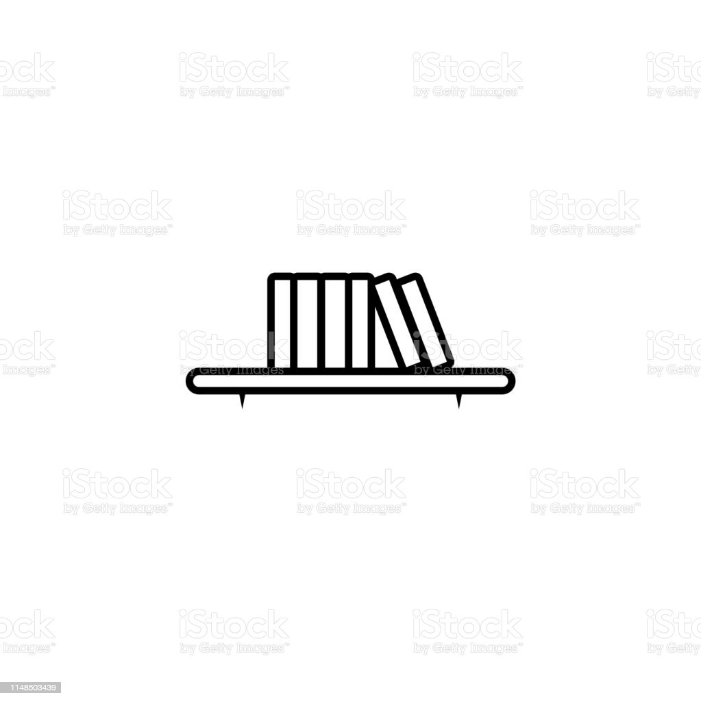 Bookshelf line icon. High quality outline vector pictogram on the...