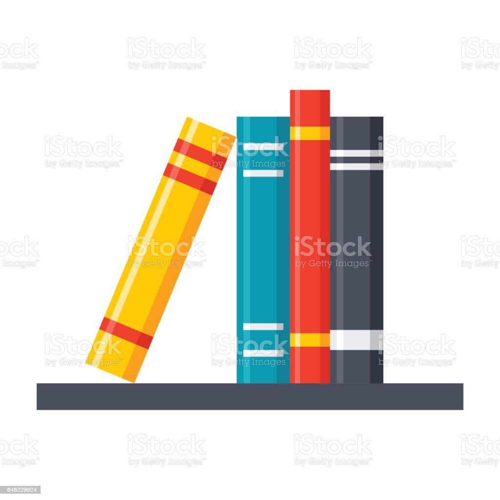 Bookshelf Vector Icon vector art illustration