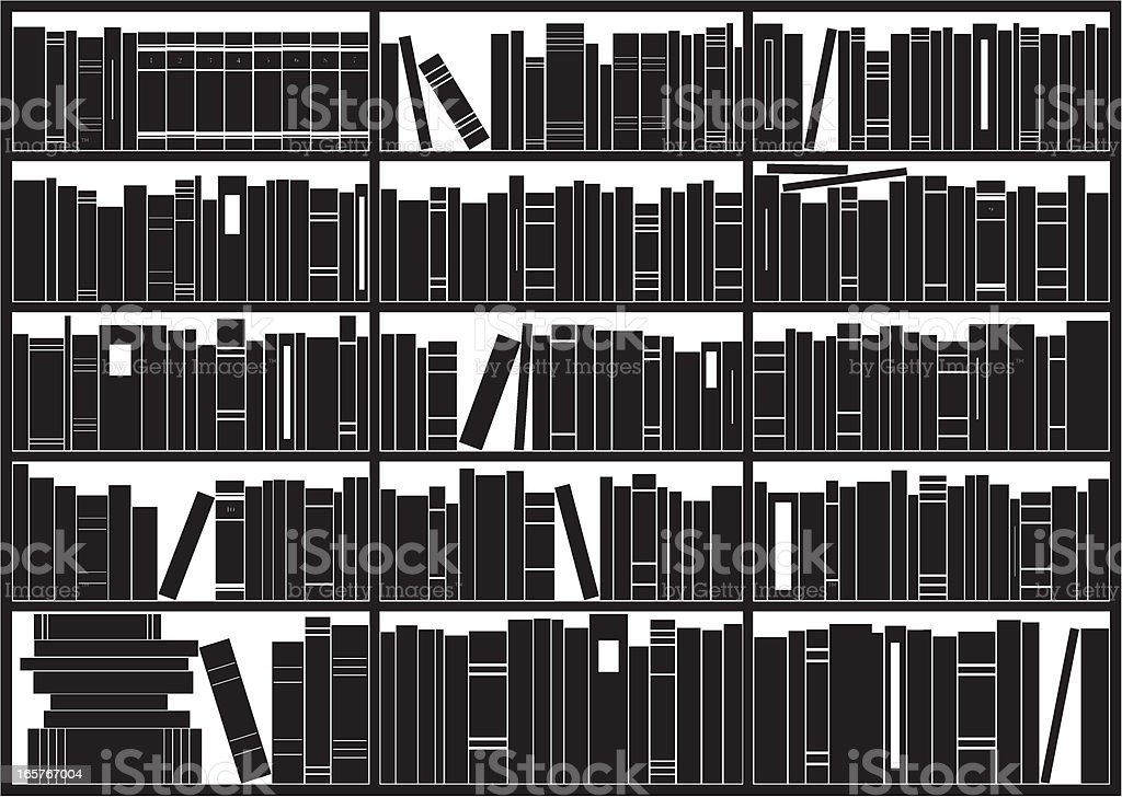 Bookshelf vector art illustration