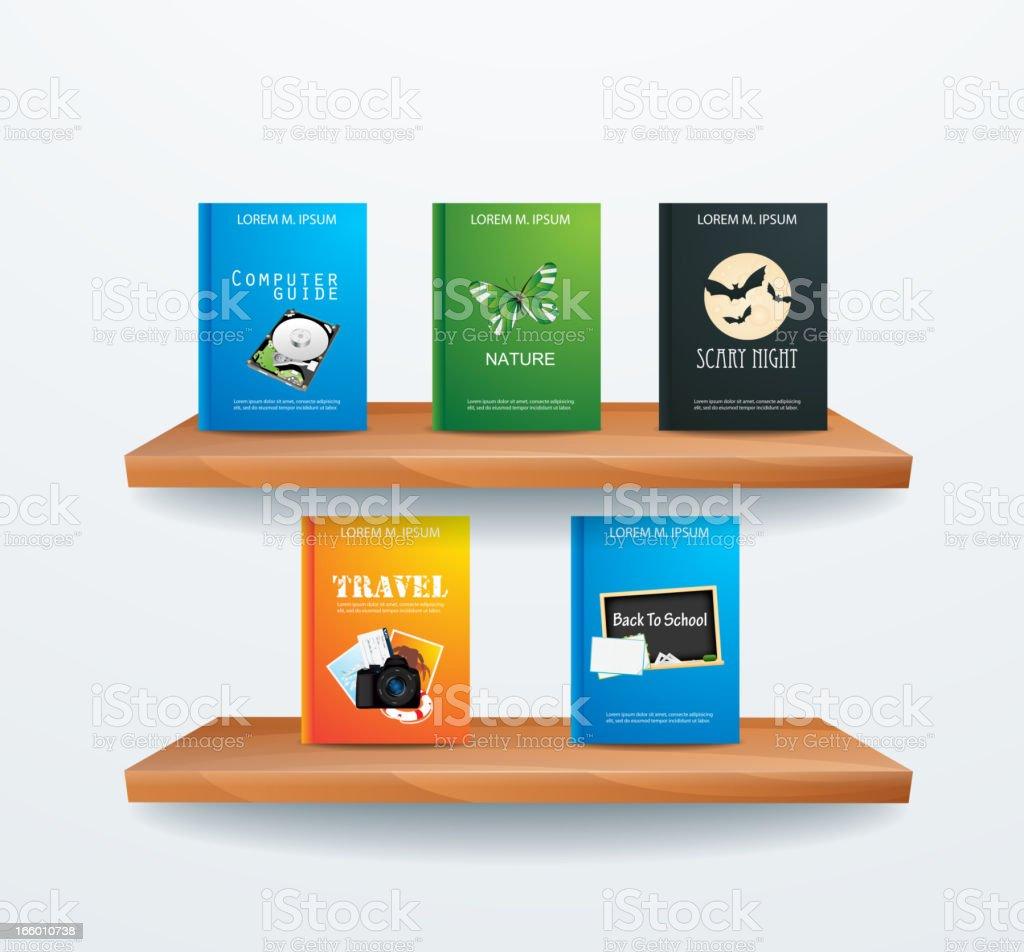 Bookshelf royalty-free bookshelf stock vector art & more images of book