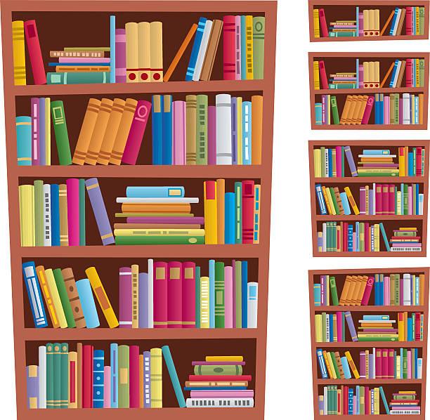 책장 - 책장 stock illustrations