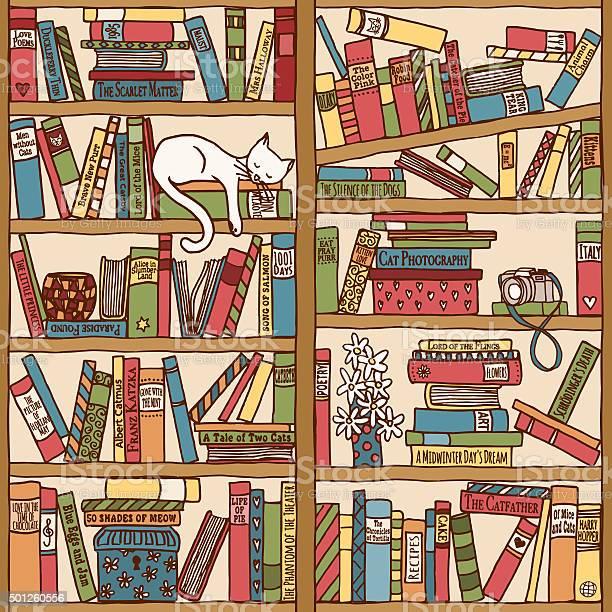 Bookshelf with sleeping cat vector id501260556?b=1&k=6&m=501260556&s=612x612&h=2e1qkbarz i6fhpvlp1bgvbz0poqsowquciryvhyq3u=