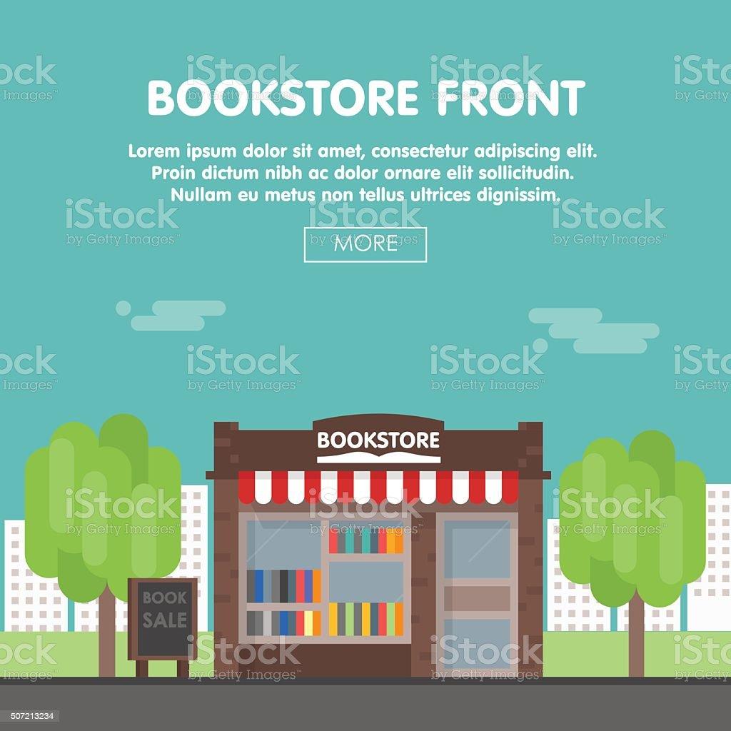 Bookstore Front Vector Illustration vector art illustration