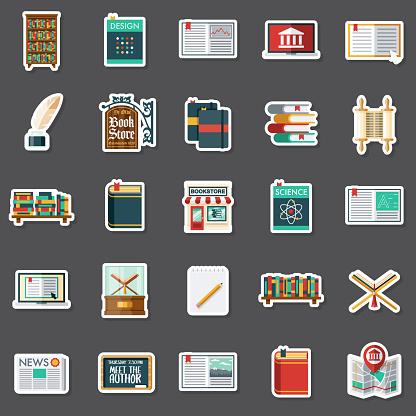 Bookstore Sticker Set