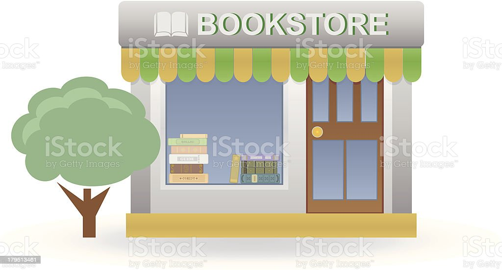 Bookstore royalty-free bookstore stock vector art & more images of architecture