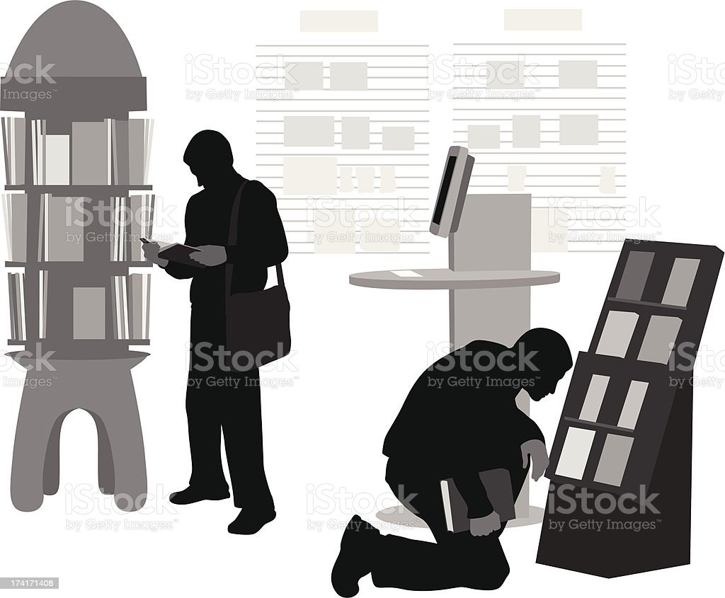 BookstoreLibrary royalty-free bookstorelibrary stock vector art & more images of illustration