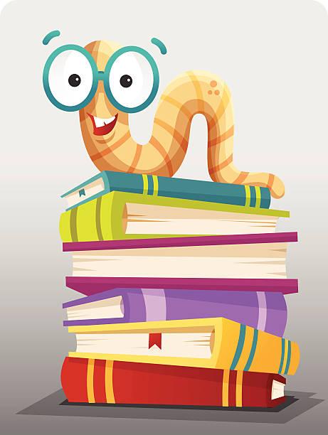 Bookworm Bookworm worm stock illustrations