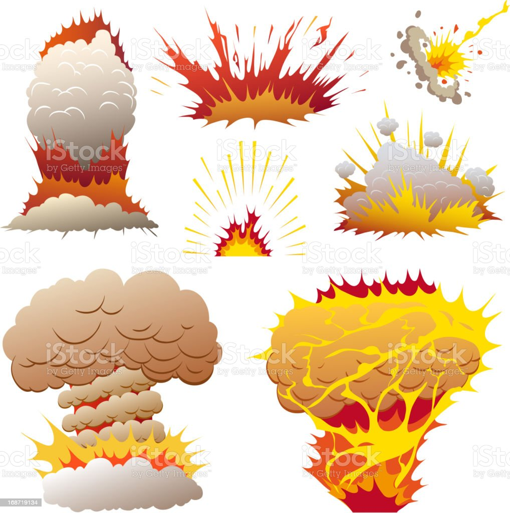 Boom. Comic book explosion elements royalty-free stock vector art