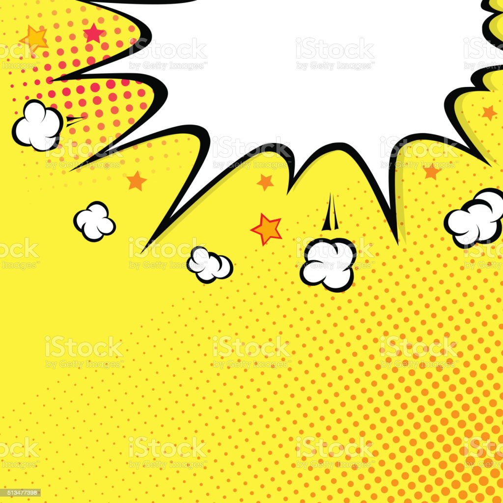 Boom. Comic book explosion on top. background vector art illustration