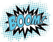 Boom! - Comic Speech Bubble, Cartoon, 3c