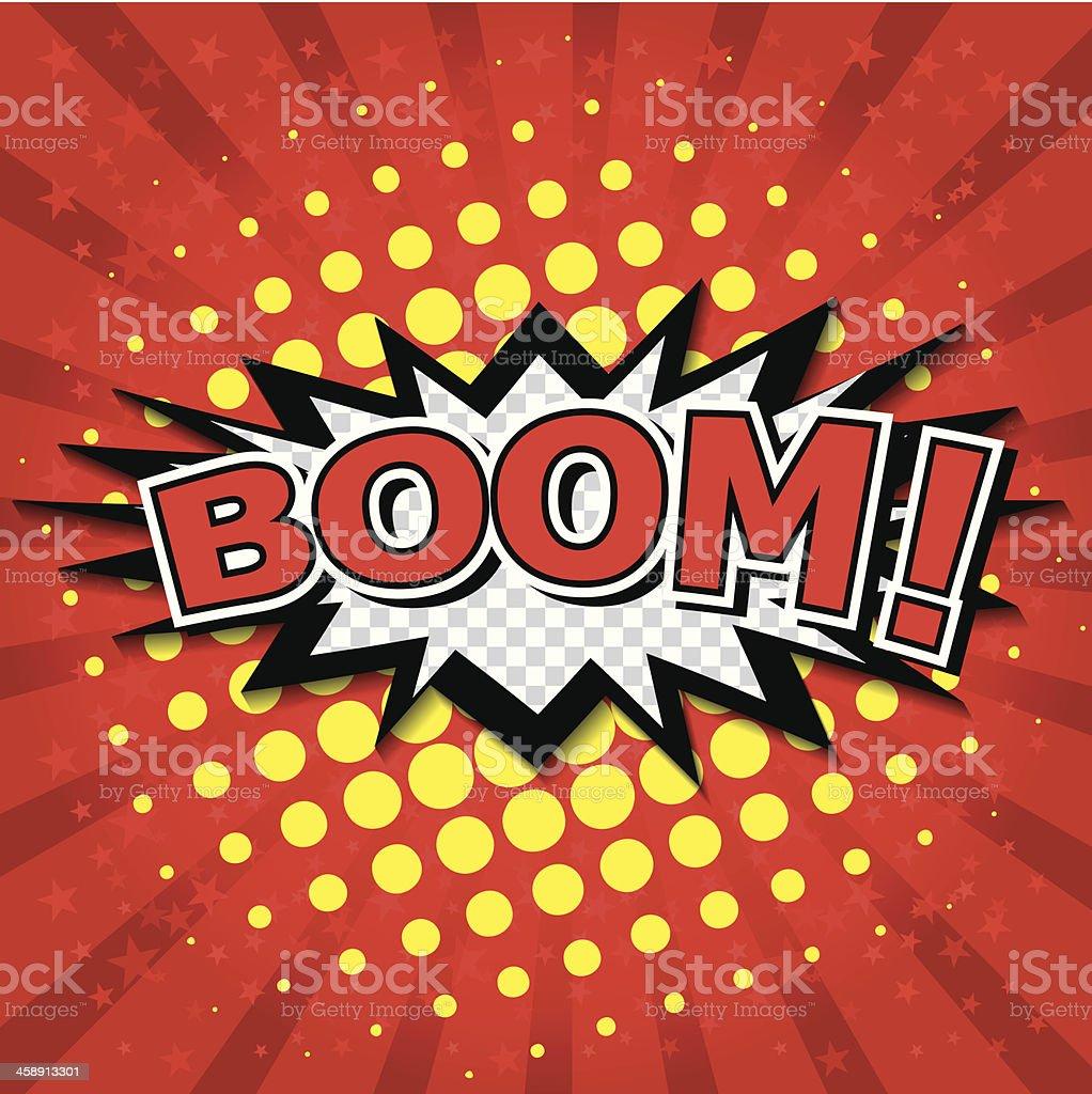 Boom! - Comic Speech Bubble, Cartoon vector art illustration
