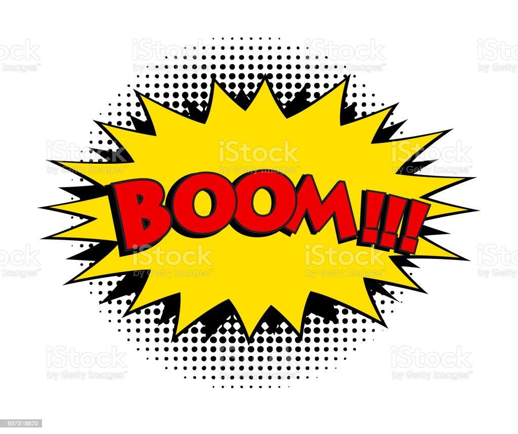 Boom comic word. Pop art retro style vector illustration vector art illustration