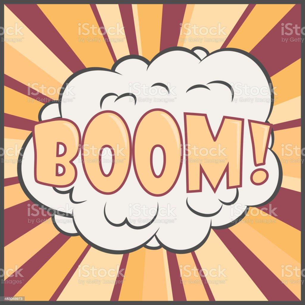 Boom! vector art illustration