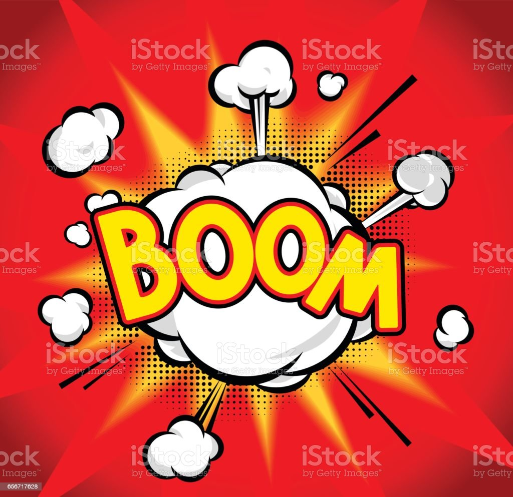 Boom vector art illustration