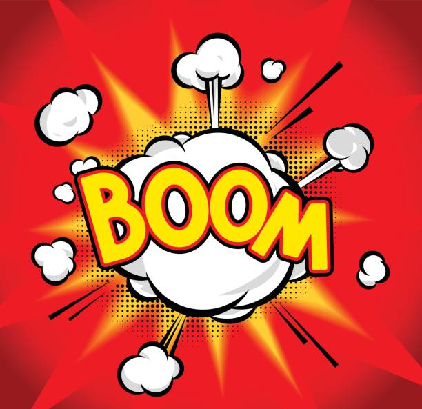 boom - sound effects stock illustrations, clip art, cartoons, & icons