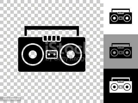 Hd Png Radio Black And - Boombox Clip Art , Free Transparent Clipart -  ClipartKey