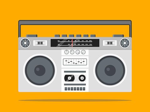 boombox vector icon illustration