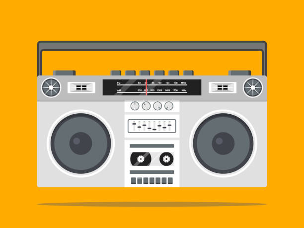 boombox vector icon illustration eps 10 stereo stock illustrations