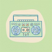 Boombox with cassette