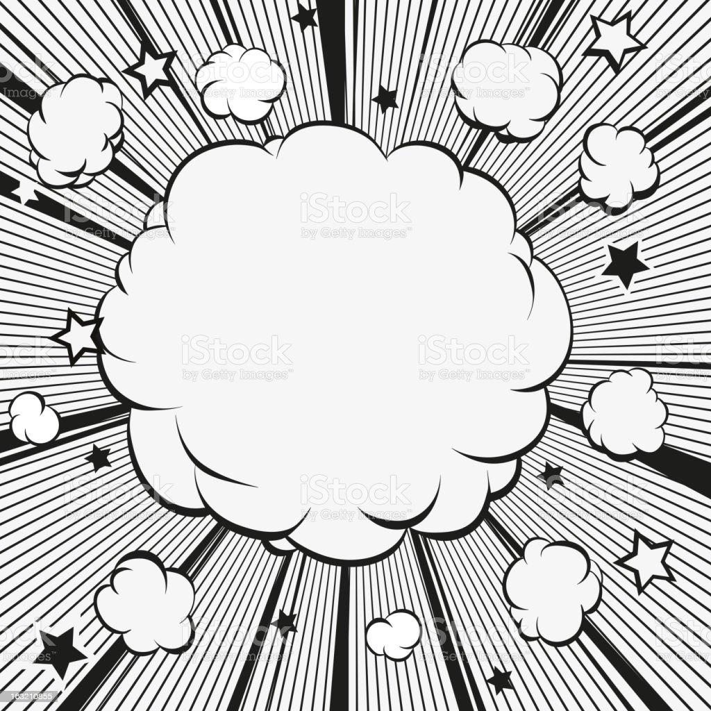 Boom.Comic book explosion. royalty-free stock vector art