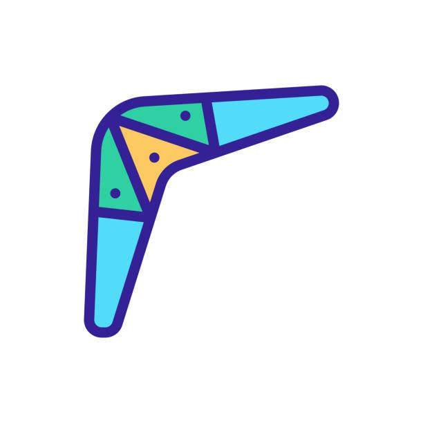 illustrazioni stock, clip art, cartoni animati e icone di tendenza di vettore icona boomerang. illustrazione del simbolo di contorno isolato - souvenir