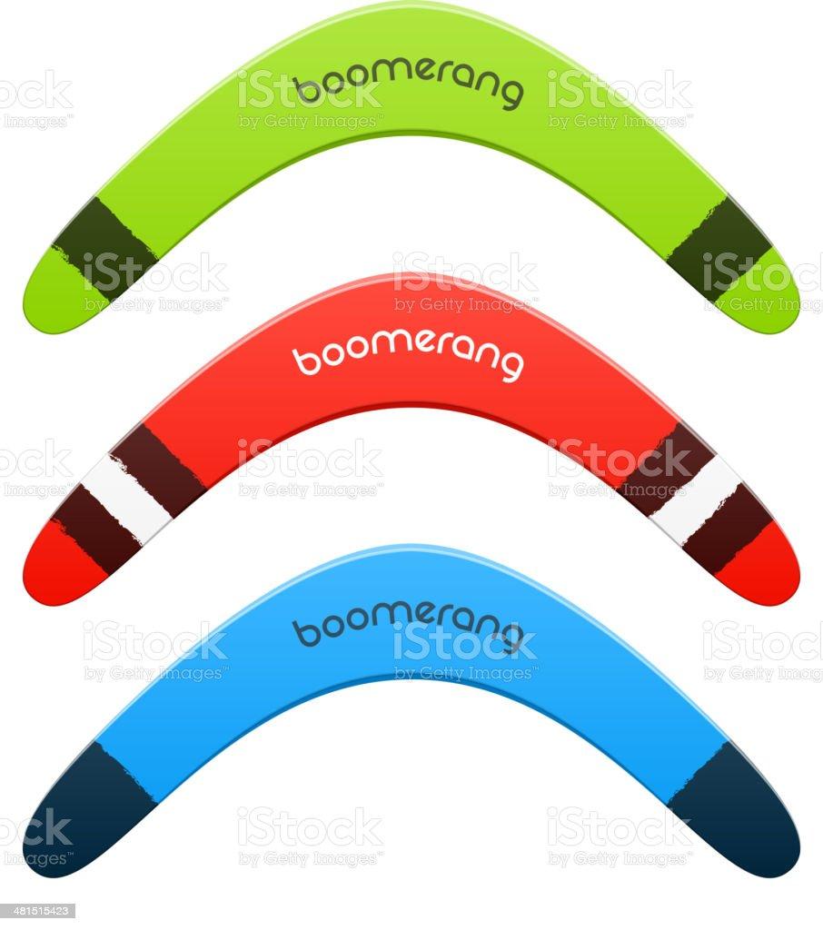 Boomerang vector art illustration